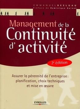 Management de la continuité d'activité - Emmanuel Besluau - Eyrolles