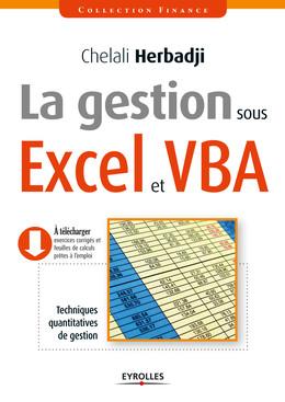 La gestion sous Excel et VBA - Chelali Herbadji - Eyrolles