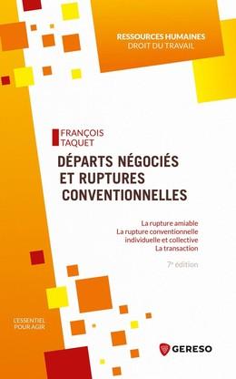 Départs négociés et ruptures conventionnelles - François Taquet - Gereso